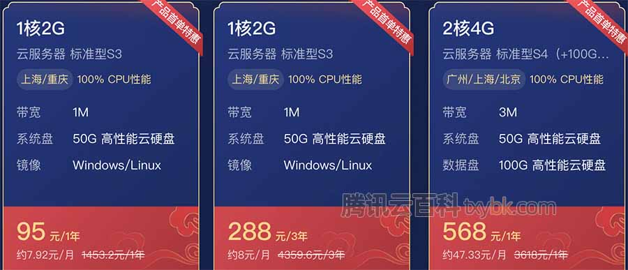 2021腾讯云新春采购节云服务器95元一年